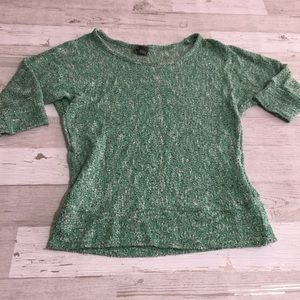 Urban outfitters Green silver top sparkle & fade